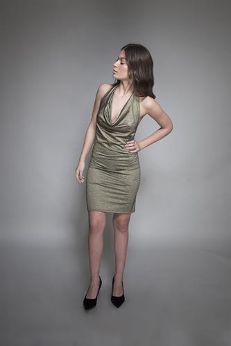 שמלה ביונסה זהב שחור