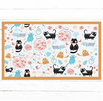שטיח pvc מעוצב לבית דגם חתולים