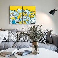 סט שלושה ציורים לעיצוב הבית של האמן כפיר תג'ר