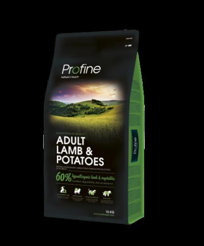 """פרופיין בוגר כבש ותפוח אדמה 15 ק""""ג - PROFINE ADULT LAMB AND POTATO 15 KG"""