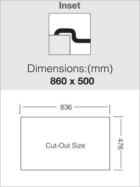 כיור UKINOX נירוסטה כפול בהתקנה עליונה - תוצרת אירופה - CL2860