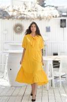 שמלת פפיון אובר סייז צהובה