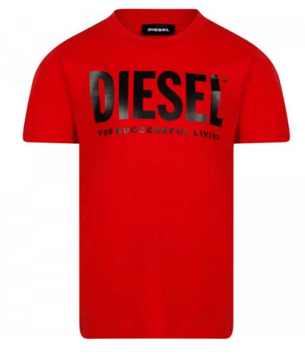 טי שירט אדומה לוגו DIESEL שחור - 4-16