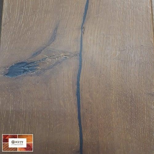 פרקט עץ אלון אירופאי אפור בגמר שמן