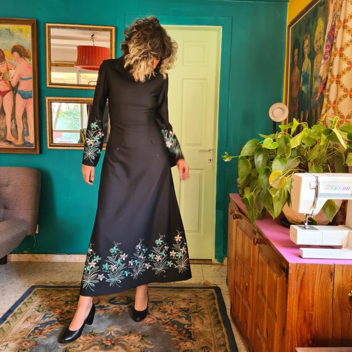 שמלת מקסי מלכותית מידה M