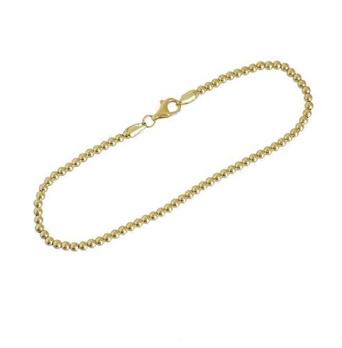 צמיד זהב כדורי לאישה או נערה מגיע ב 3 צבעים לבחירה