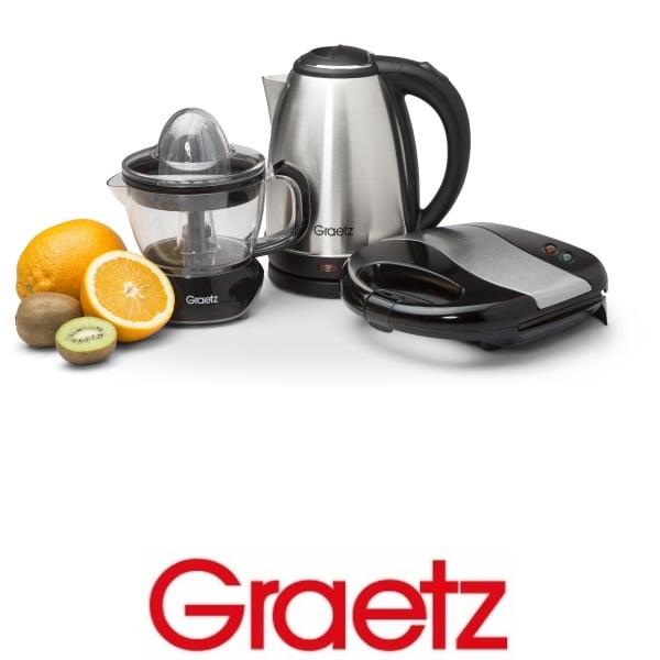 Graetz סט קומקום +מסחטת מיצים +טוסטר לחיצה דגם: GR-769S