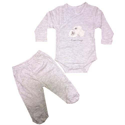 חליפת חזייה דובים - אפור