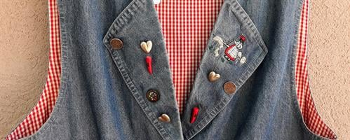 ווסט ג'ינס למבינות עיניין משנות ה-80 מידה M/L
