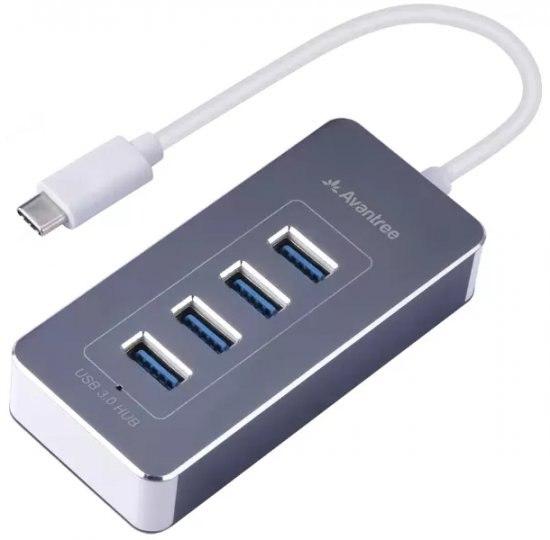 מפצל 4 Avantree PORT USB-C TO USB3.0 HUB