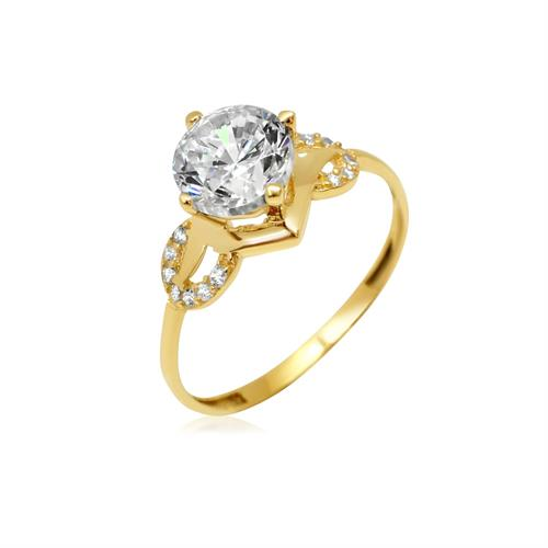 טבעת זהב עם זרקונים|טבעת מיוחדת