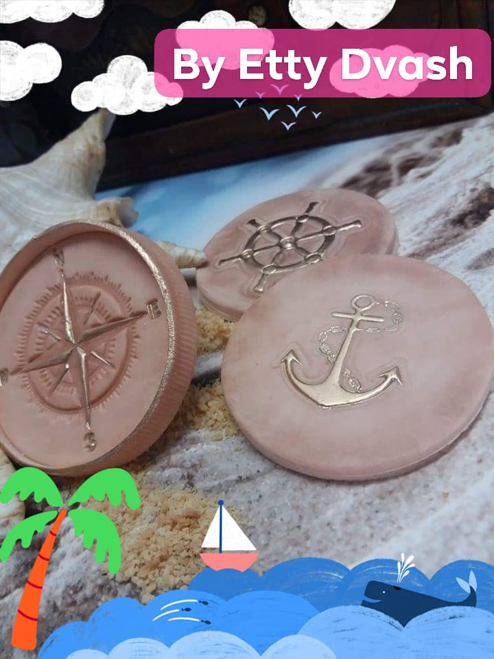 steering wheel of ship stamp