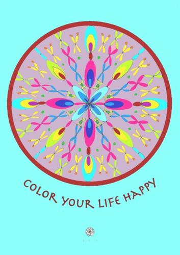 דפי מנדלות לצביעה - COLOR YOUR LIFE HAPPY