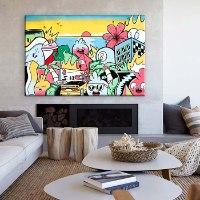תמונת פופ ארט צבעונית גדול למשרד של האמן כפיר תג'ר