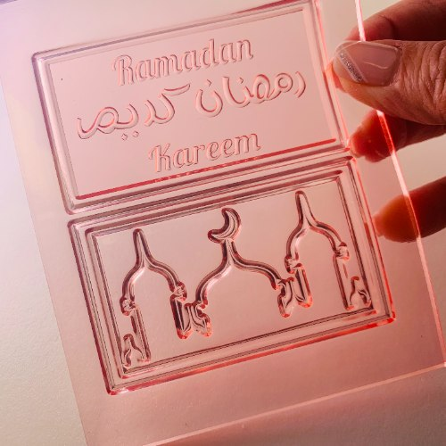 Set of RAMADAN KAREEM With A Mosque | Stylish Letters |MOLD For Fondant And Chocolate | RAMADAN