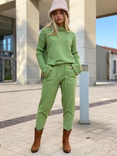 חליפת סריג  דגם לורן ירוק