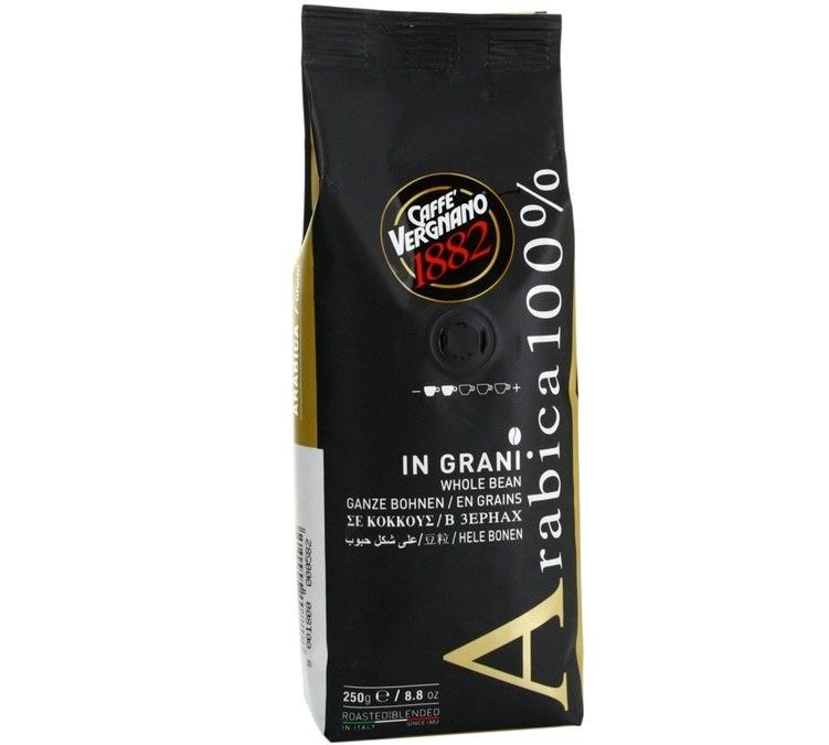 250 גרם פולים וריניאנו 100% ערביקה - Caffe Vergnano 1882 Arabica