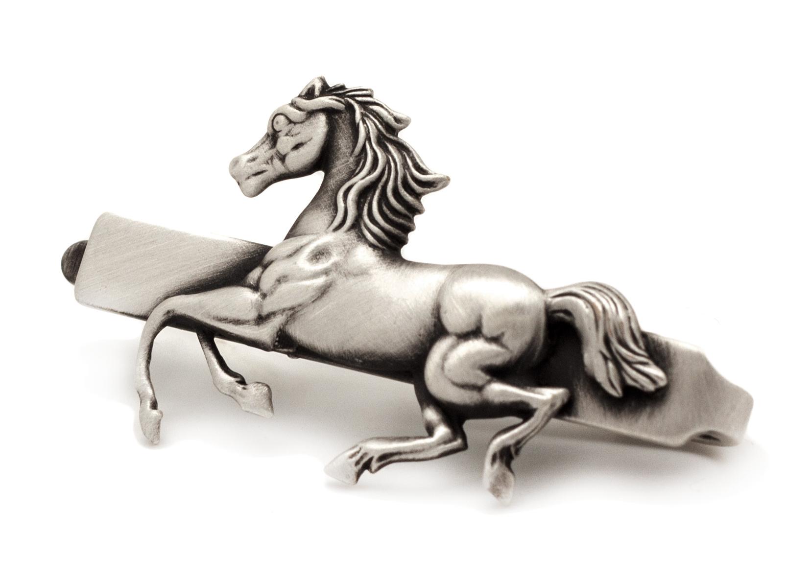 תפס לעניבה סוס כסף