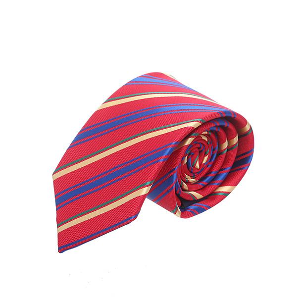 עניבה פסים אדום נועז