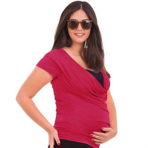 Classic Fuchsia Maternity Top