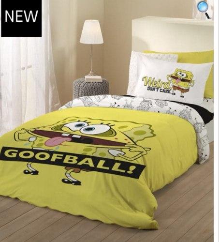 סט מלא יחיד או מיטה וחצי דגם בוב ספוג