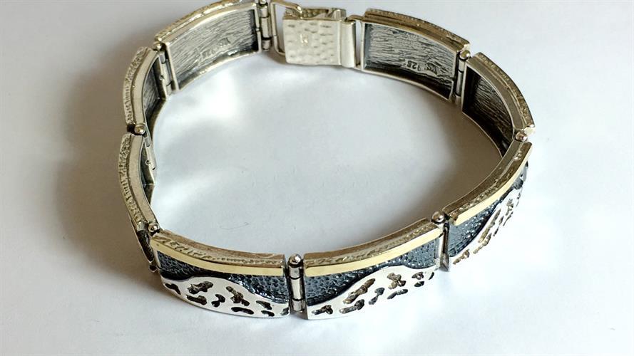 צמיד נשים כסף 925 משולב זהב MY10150036985