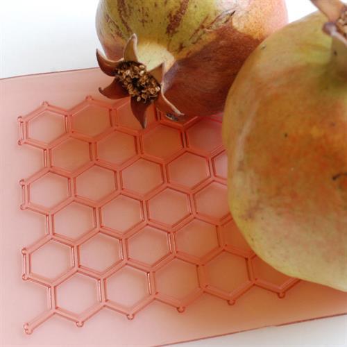 משטח טקסטורה - כוורת דבורים