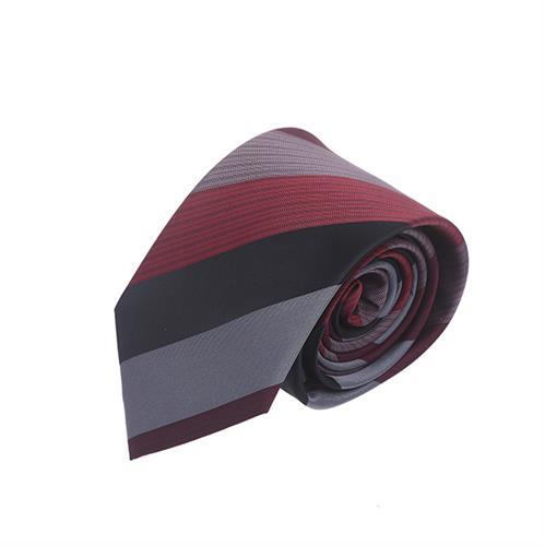 עניבה פסים רחבים בורדו