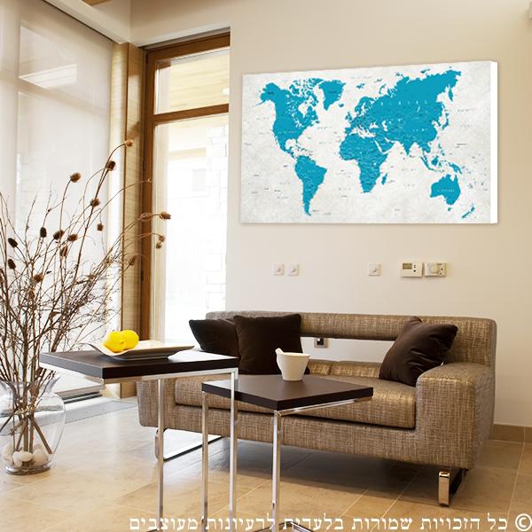 קנבס מפת העולם