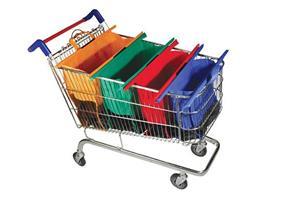 טרולי בג, סט 4 תיקי קניות המתלבשים עם עגלת הסופר