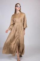 שמלת סאטן דגם לורן ורוד