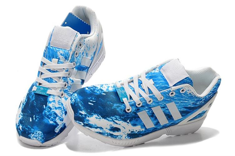 נעלי ספורט אדידס ZX FLUX תכלת גלים
