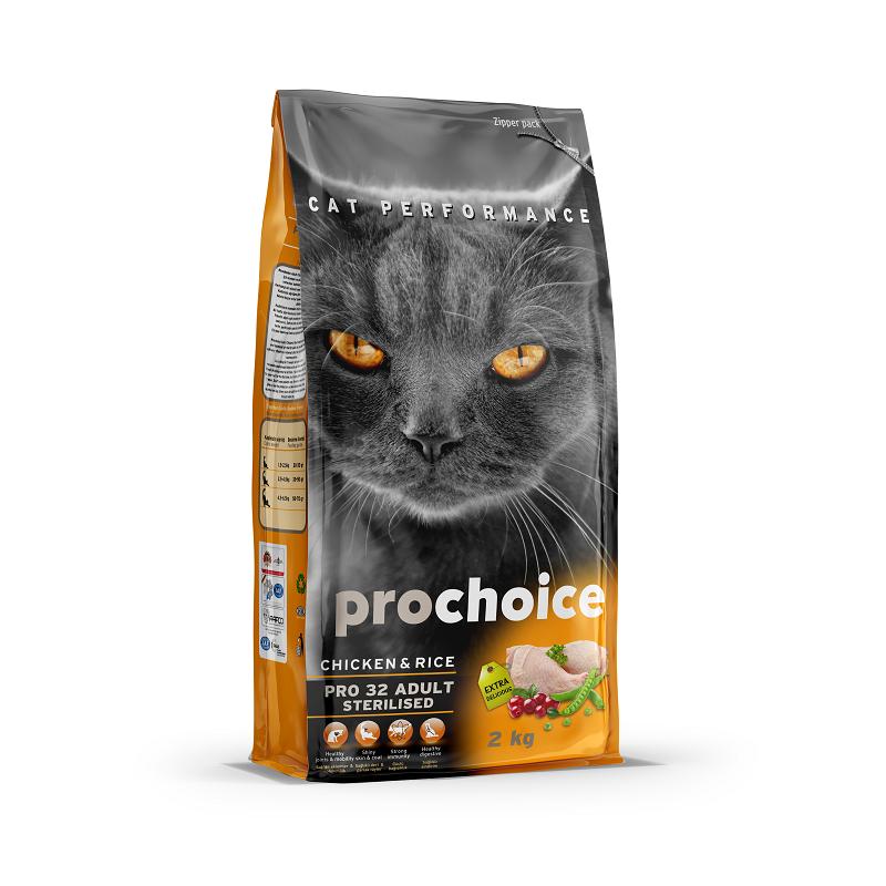 פרוצ'וייס מזון יבש לחתולים מסורסים- עוף ואורז