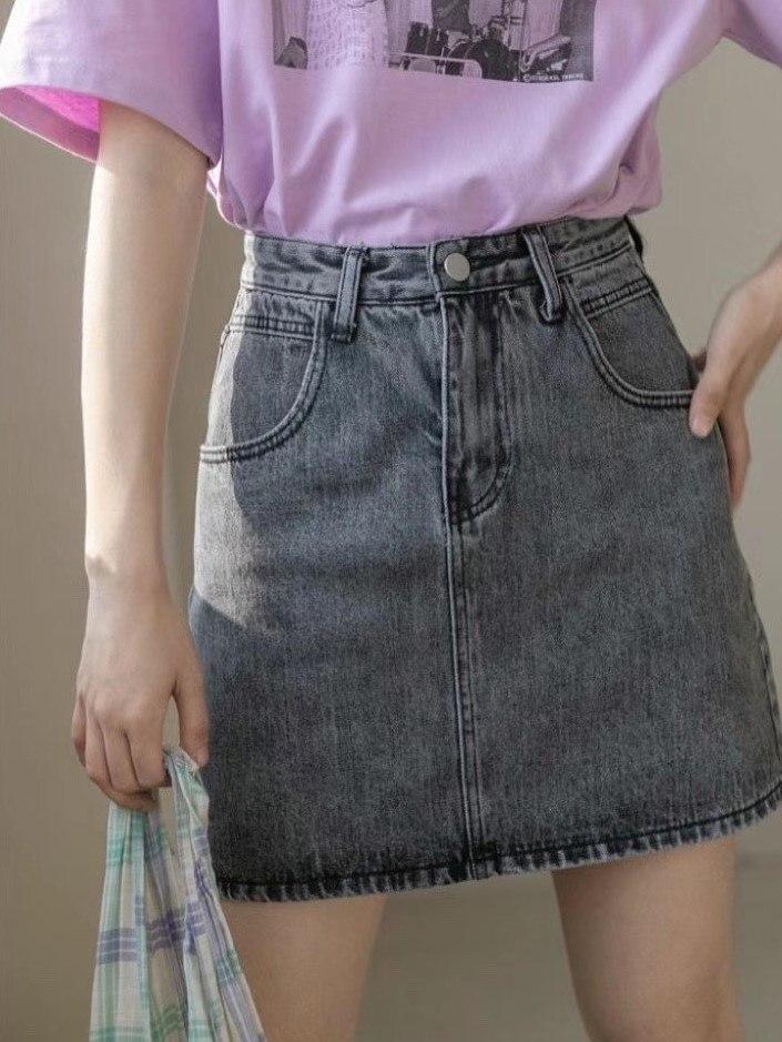 חצאית ג'ינס שחורה