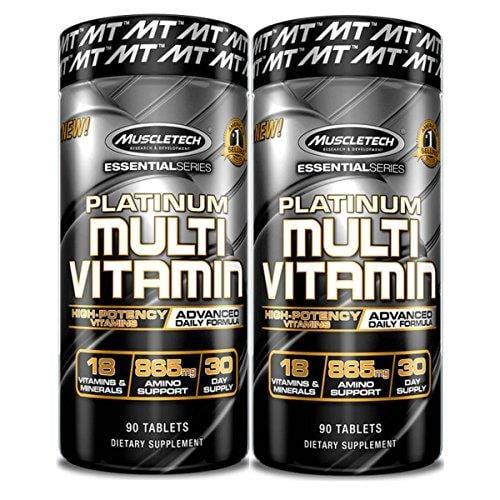 זוג מולטי ויטמין פלטינום| 180 טבליות - מאסלטק USA