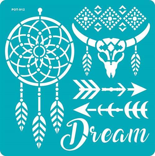 סטנסיל דביק - חלומות (POT 912)