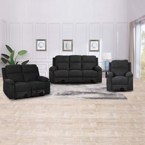 ספה 1+2+3 מושבים סיאסטה בד שחור