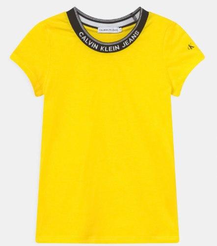 בייסיק צהובה כיתוב צוואר CALVIN KLEIN - מידות 4-16