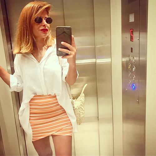 חצאית מיני מעטפת - אפרסק