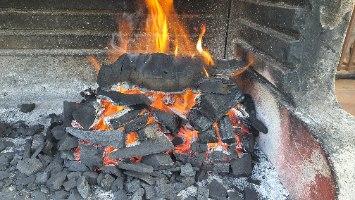 """שק גחלים למנגל מעץ הדר - פחם למנגל / גריל הדרים פחמי ארזי - שק של 4 ק""""ג"""