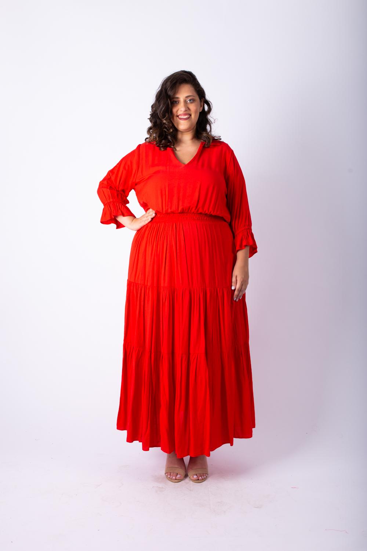 שמלת אווה אדומה