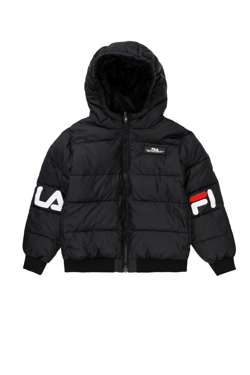 מעיל FILA שחור לוגו בשרוול 1-8