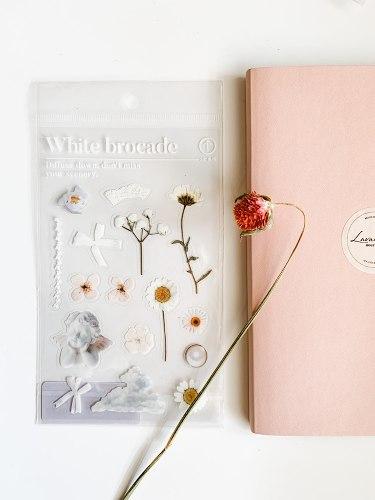 מדבקות פרחים- הלבנה
