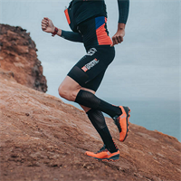 זוג גרביים מלאים לרכיבה ולריצה דגם 2020 צבע שחור דגם RECOVERY