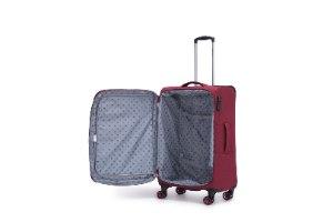 סט 3 מזוודות SWISS ALPS בד קלות וסופר איכותיות - צבע אדום