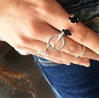 טבעת אן אובלי כסף
