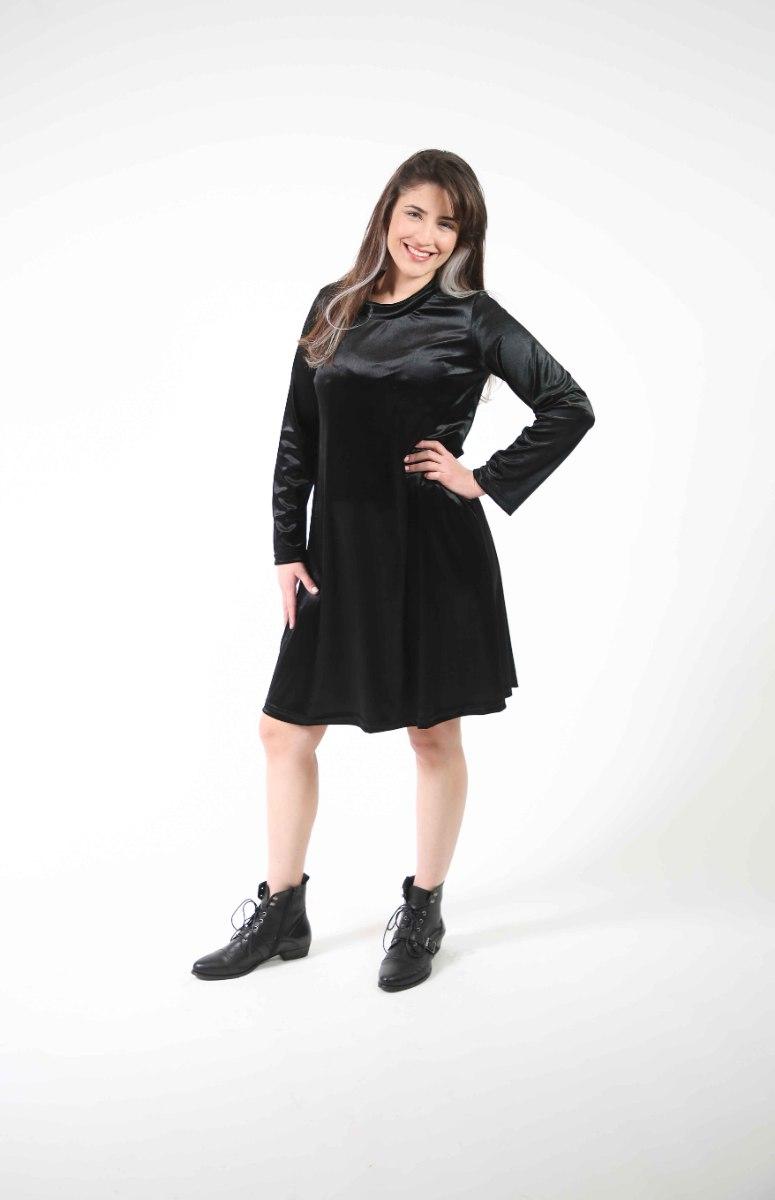 שמלת לילך קטיפה שחורה