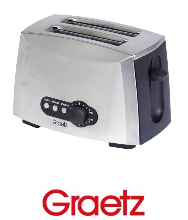 Graetz מצנם אוטומטי כסוף דגם GR-2050