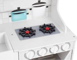 מטבח עץ טקסס, לבן גדול כולל כלי בישול, צעצועץ