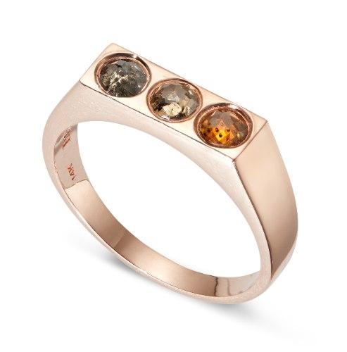 טבעת קיארה זהב אדום
